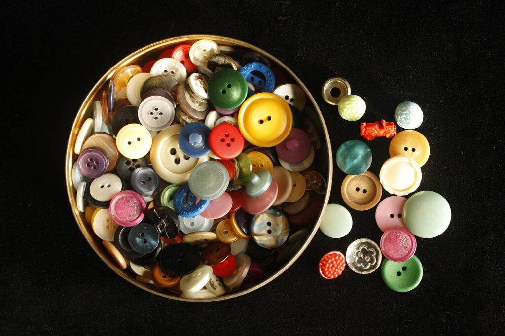 buttons, colorful, craft