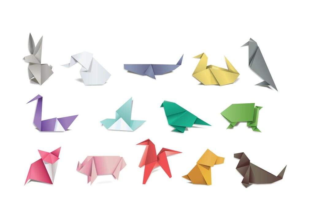 origami, paper, folding